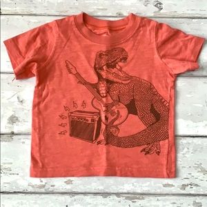 Carters Boys Dinosaur Guitar Shirt 18m Red Orange